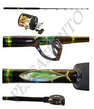 Kit Pesca al Tonno Rosso Canna Tuna 30/60Lbs + Mulinello Mak Traina Drifting tp