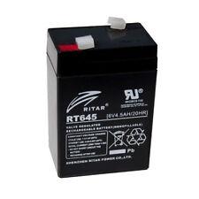 RITAR RT645 Rechargeable BATTERY LEAD ACID AGM 6V 4.5AH (4ah) - LP6-4.0 - NP4-6