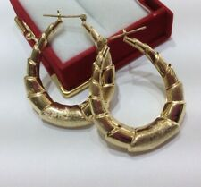 pre-Owned 14k Solid Yellow Gold Hoop Earrings 5.45GM(350$)
