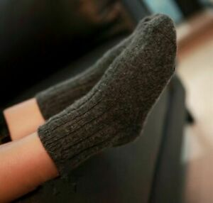 2/5 Pairs Baby 100%Wool Cashmere Thick Warm Solid Boy Girls Kids Socks Age 0-6Y