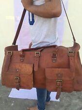 """26""""Satchel Shoulder Briefcase for sports gym Bag Mens Vintage Leather Messenger"""