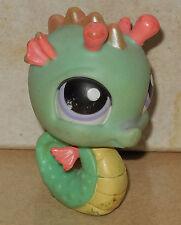 Littlest Pet Shop Seahorse Seafoam Green Purple Eyes #348