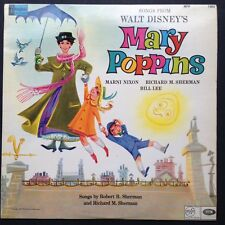 Songs From Walt Disney's MARY POPPINS Soundtrack LP Marni Nixon Richard Sherman