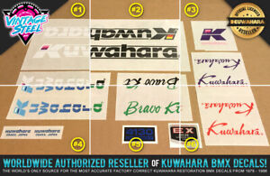 Kuwahara BRAVO KT BMX Decal Set (1986 All Colors) Official Licensed Product!