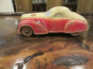 Antique rubber toy car, brand unknown