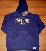 Baltimore Ravens Timeless Legends Hoodie Large Fully Embroidered Logos NFL