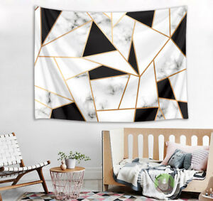 Marble Geometric Triangle Design Tapestry Wall Hanging Bedroom Living Room Dorm