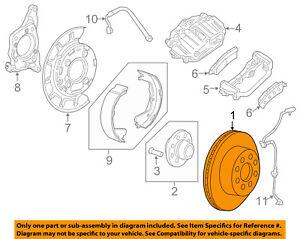 GM OEM Rear Brake-Rotor 25815024