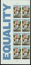 MARCH ON WASHINGTON, DC US #4804 EQUALITY ISSUE 8 FOREVER STAMP MVF PLATE BLOCK