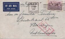 Australia  1946 from Perth to Netherlands with OAT cachet. {below}