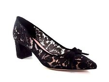 Kate Spade NY S542626 Madelaine Too Black Kid Suede Lace Pump Heel NEW Size 6