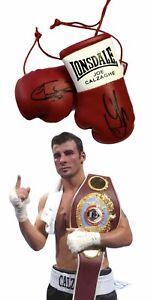 Autographed Mini Boxing Gloves  Joe Calzaghe