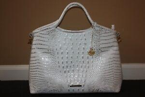Brahmin Elaine Sugar Melbourne Satchel Bag with Strap