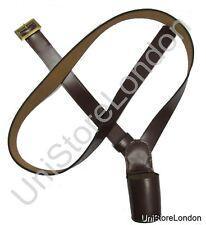 More details for cross belt,flag carrier,belt flag holder, brown size 60 inch cadet junior r285