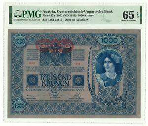 Austria 1000 Kronen 1902 - PMG 65 EPQ TOP POP