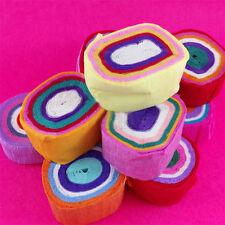 4Rolle/Set Bonbon-farbig Krepp-Papier Streamer DIY Bastelarbeit Party Dekoration