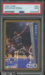 1992-93 Fleer #401 Shaquille O'Neal Orlando Magic RC Rookie HOF PSA 9 MINT