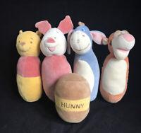 Disney's Winnie the Pooh Classic Plush Bowling Set of 5 Tigger Eyore Piglet
