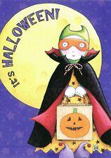 Mary Engelbreit-It'S Halloween! Vampire Dracula Mask Bag-Card w/Envelope-New