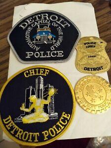 Detroit Michigan Police Chief Collectors Set Coin/Emblem Patches