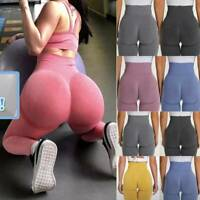 Women High-Waist Yoga Pants Anti-Cellulite Leggings Workout Push Up Compression