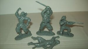 Lot of four original Barzso Treasure Island playsets Pirates in gray color