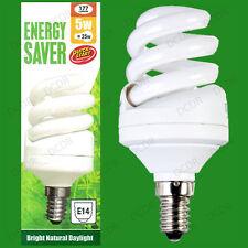 2x 5w Luz De Día Encendido Rápido CFL Bajo Consumo SAD 5600k bombilla blanca