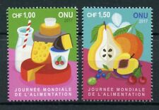 United Nations UN Geneva 2017 MNH World Food Day 2v Set Gastronomy Stamps