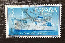 España mié 1088, 1191, flotantes exposición, con sello