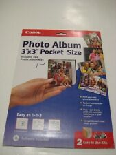 """Canon Create Your Own Photo Album 3"""" x 3"""" Pocket Size (Two easy to use Kits)"""