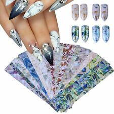 Gradient Marble Shell Design Sticker Nail Art Foils Transfer Decals Decoration T