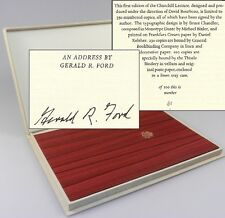 Gerald R. Ford - Churchill Lecture, signed limited edition, copy #61/100