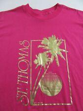 Vintage '87 ST. THOMAS Virgin Islands Vacation Souvenir T Shirt Size L