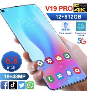 Smartphone 5G 12GB + 516GB 6.8 pouce Face ID V19 Pro