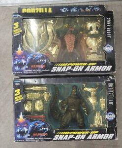 New Godzilla Wars  Power Up Snap On Armor Action Figure 1995 Godzilla & Rodan