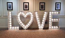 5ft Large Giant Wedding Engagement Light Up Love Letters For Hire Nottingham