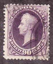 US Scott 218 old 90c Perry Banknote U/VF CV $250