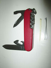 VICTORINOX OFFICIER SUISSE Swiss Army Folding Knife Spartan 12 Funct Matte Red