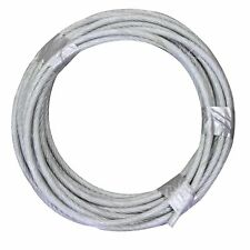 "1/8"" (.125) x 100' STAINLESS STEEL T304 AIRCRAFT CABLE 7x7 Wire Rope"