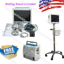 CONTEC ICU/CCU vital Signs Patient Monitor 6 Parameters,Rolling Stand CE FDA USA
