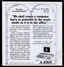 1986 Atari 1040St computer 10 Commandments 6th  vintage print ad