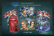 Togo 2015 MNH Queen Elizabeth II Longest Reigning Monarch 4v M/S Royalty Stamps