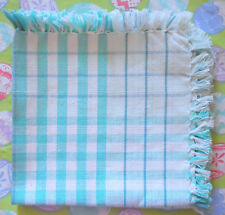 """New listing Set Of 4 Mint Green And White Plaid Napkins 16 1/2"""" x 16 1/2"""" Each"""
