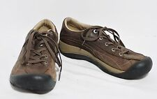 KEEN Toyah Brown Leather Oxfords Lace Up Sneakers Walking Shoes Women's 7.5 Good