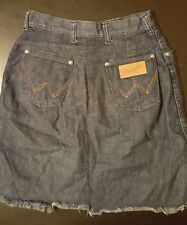 Vintage 70s 80s Wrangler Misses Size 9/10 Denim Jean Pocket Skirt Cowboy USA