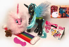 My Little Pony G4 FLUFFLE PUFF Custom Brushable (POMF!) & Queen Chrysalis LOT