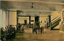 A View Of The Lobby & Billiard Room, Moor Baths, Waukesha, Wisconsin WI