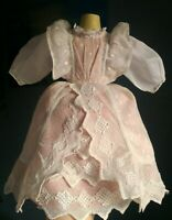 Beautiful antique fashion doll dress, French fashion antique doll, Rohmer, Huret