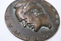 GERMANY MASSIVE 251GR. Medaille, 1971 Deutschland, Gerhart Hauptmann 1862-1946 B