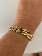 18k Fope Yellow Gold 3 Triple Strand Bracelet.